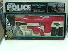 1988 VINTAGE MANLEY PLASTIC TOY POLICE SET GUN UZI FRICTION SOUND MIB
