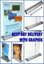 NEXT DAY DELIVERY A3 DESKTOP ROLLER BANNER EXHIBITION STAND INC PRINTED GRAPHIC