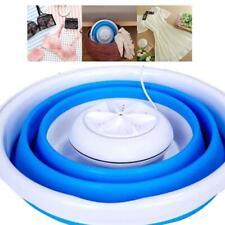 Foldable Mini Washing Machine Rotating Ultrasonic Turbines Washer USB Charging