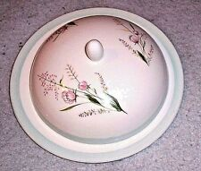 "EB Foley Bone China ""SPRINGTIME"" Covered Butter Dish - Flowers & Pale Turquoise"