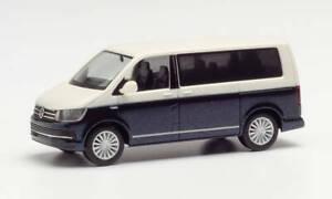 Herpa 038730-002 VW T6 Bicolor, weiß/starlight Blue, Auto Modell 1:87 (H0)