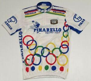 Vintage Pinarello Treviso Italy Short Sleeve Cycling Jersey Men's S