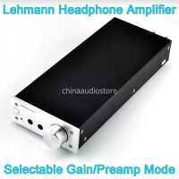 Hi-Fi LEHMANN Headphone Linear Amplifier AMP Replica Selectable Gain 115V/230V