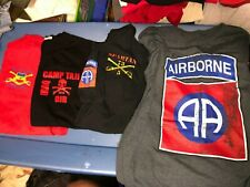 New listing 4 Different Us Army 82nd Airborne Cavalry Iraq Afghanistan Shirts Large