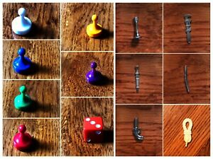 CLUE Game Tokens Pawns Characters Weapons Dice You Pick
