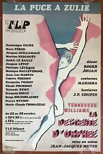 Poster the Descent D'Orphee Theatre Dejazet Jean-Jacques Mutineer Dominique