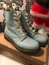 Dr Martens Duck Egg Blue Pascal Boots Size 5 Lovely Condition