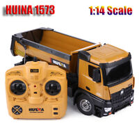 HUINA 1573 1/14 Scale 2.4GHz RC Dumping Truck Engineering Vehicle Model Toy Car
