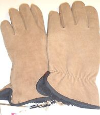 Ladies Grandoe Genuine Suede Leather Gloves, Camel,XL
