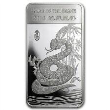 Chinese Lunar Calendar Year of the Snake 2013 1/2 oz .999 Silver Bar