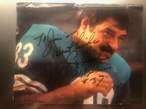 LARRY CSONKA Autograph Signed 8 x 10 Photo Miami Dolphins 1972 SUPER BOWL 17-0