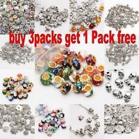 Wholesale Silver Spacer Beads For Jewellery Making European Bracelet  61 Types