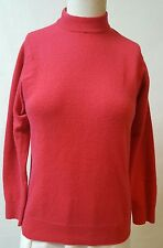 B Altman Red Sweater Size XS/S 100% Cashmere Mock Neck Made in Scotland VTG