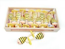 Kids Wooden Shaker Mini Maraca Bee Design