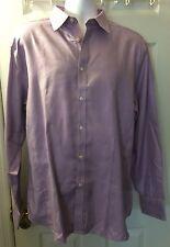 New TED BAKER Endurance Dress Shirt Purple Pink Superfine Cotton Sz 17.5 Nwot