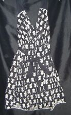 Torrid RARE SKULLS & CROSSBONES Size16 Halter Dress Punk Rockabilly Plus NEW