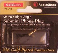 RadioShack 274-298 ~ 3/32 2.5mm Male Stereo Submini Right-Angle Phone Plug