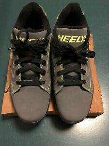 HEELYS PROPEL 2.0 Roller Skate Shoes Sneaker Gray/Green Wheel Size 10 Mens