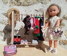 Dressing penderie bois 30 x 25 cm poupée ancienne FAIT MAIN chaussure vetement