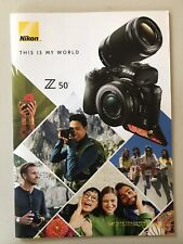 NIKON This Is My World Z50 Mirrorless DIGITAL CAMERA BROCHURE 35pgs. 2019