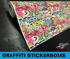 Graffiti Sticker Bomb Wrapping Vinyl 1.52 x 2m Bubble Free Car Wrap Film Foile