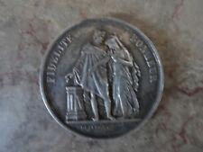 Pièce médaille de mariage en argent 1876