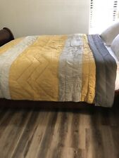 West Elm Quilt Multi Colors Stripes  Queen Size 92x88""