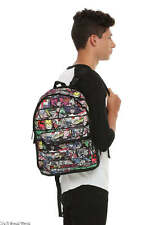 "Bioworld Marvel Heroes Panel Reversible Backpack Black Hot Topic 16"" H NWT"