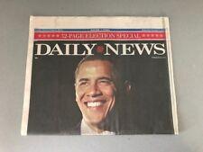"BARACK OBAMA  ""NEW YORK DAILY NEWS NOVEMBER 5, 2008 NEWSPAPER""~32 PAGE SPECIAL"