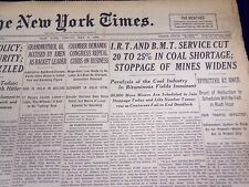 1939 MAY 5 NEW YORK TIMES - I. R. T & B. M. T SERVICE CUT COAL SHORTAGE - NT 587