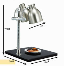 2 Head Food Warmer Lamp Buffet Heating Lamps  Marble Food Preservation Lampstand