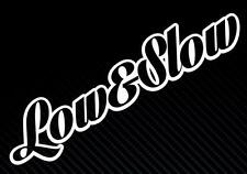 Low And Slow JDM Vdub funny Car Window Bumper Vinyl Decal Sticker