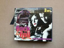 The Days of Rock 'N' Roll [Box] by Various Artists (CD, Oct-1995, 3 Discs,