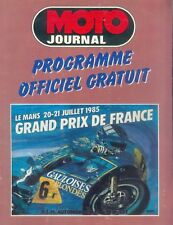 1001GP Grand Prix de France Moto Le Mans 1985 20.7.85 Programmheft Programm