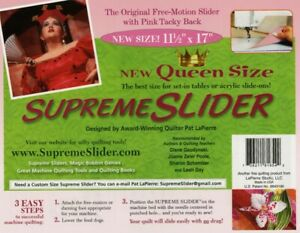 SUPREME SLIDER QUEEN SIZE for Sewing Quilting Machines Free Motion