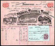 1899 Smethwick England - Stove Grates - Samuel Smith & Sons Letter Head Rare