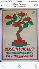 Original Vintage Italian Tomato Pasta Sauce Poster Ad, Circa 1920's