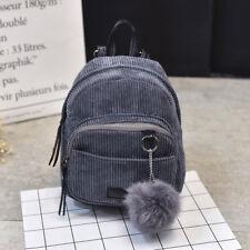 Women Mini Bags Backpack Girl School Shoulder Bag Rucksack Corduroy Travel Bags