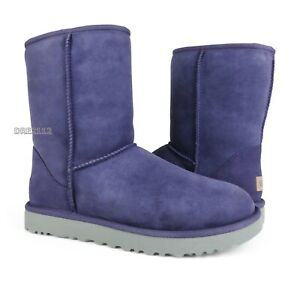 UGG Classic Short II Purple Sage Suede Fur Boots Womens Size 8 ~NIB~