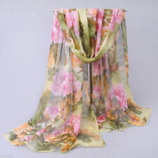 Pretty Women's Fashion Long Soft Wrap Lady Floral Shawl Chiffon Scarf