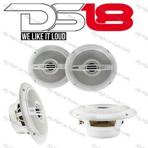 "DS18 HYDRO65 Marine Speakers Power Sports Boat 6.5"" Waterproof White 1 Pair"