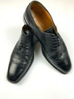 HARRY ROSEN Mens Leather Shoes Oxford Wingtip Made In Italy Size 43.5 (9.5 US) B