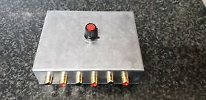 Audio Switcher ASPHO3MET RCA Phono Connectors Switch 3 stereo INPUT DIECAST