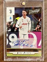 2019-20 Panini Prestige Soccer Cristiano Ronaldo Auto Autograph #242