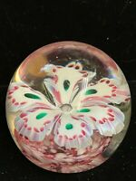 Vintage Murano Glass Flower Paperweight