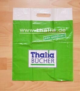 alte Plastiktüte Einkaufstüte Tragetasche THALIA 37,5 x 45 cm NEU Falte Sammler