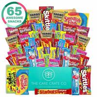 The Care Crate Ultimate Candy Snack Box Care Package (65 piece Candy and Snac...