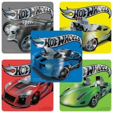 25 Hot Wheels Foil STICKERS Party Favors Birthday Supplies Loot Treat Bags