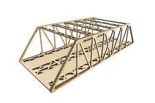 More details for wws double track mdf low detail girder bridge choose length –oo/ho model railway
