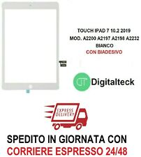 VETRO TOUCH SCREEN PER Apple iPad 2019 7th gen A2200 A2197 A2198 A2232 BIANCO